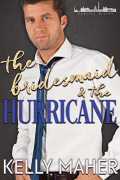 30ish White man in white button up shirt and loose tie. Cover for Kelly Maher's The Bridesmaid and the Hurricane