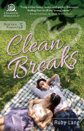 Clean breaks, a couple lays on a picnic blanket.