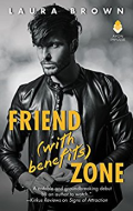 Friend (with benefits) Zone by Laura Brown  dark hairedd white man  shirtless in a dark leather jacket looks left