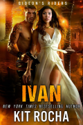 Cover of Ivan by Kit Rocha, Shirtless tattooed man, woman in white dress