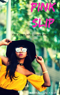 Pink Slip cover black woman in back sunhat, shades and yellow top